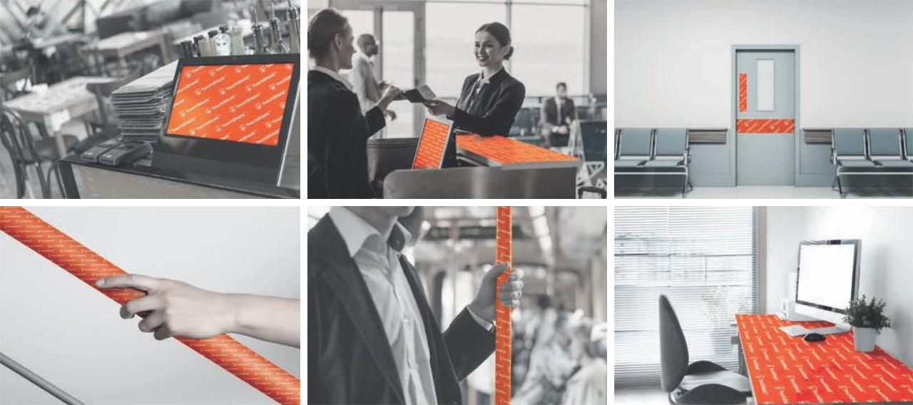 touch shield covid workplace protection